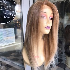 Handbags - Blonde long Wig silky lacefront wig Freepart 2019
